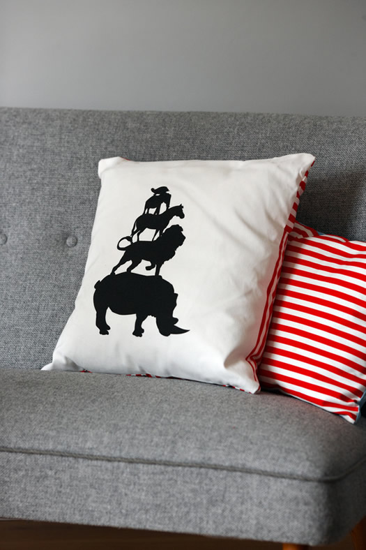 Shadow zoo pillow by Dottir and Sonur