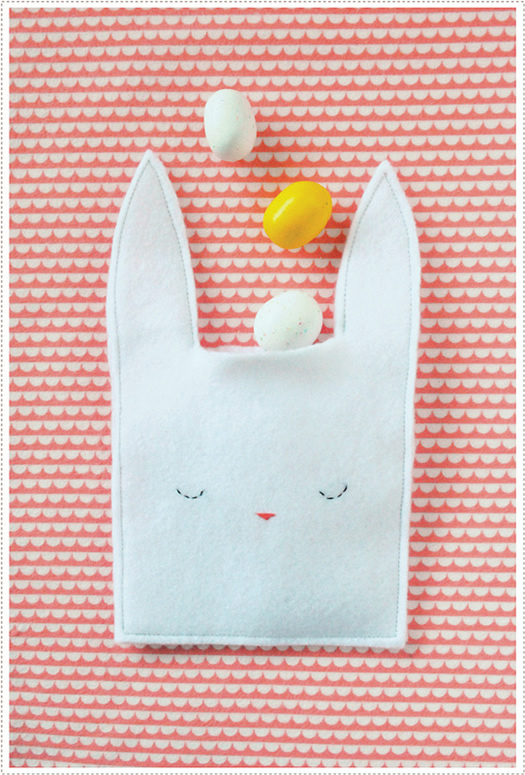 Easter Bunny Pouch with Candy by MerMag