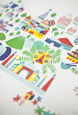 Fine Little World print detail by Fine Little Day