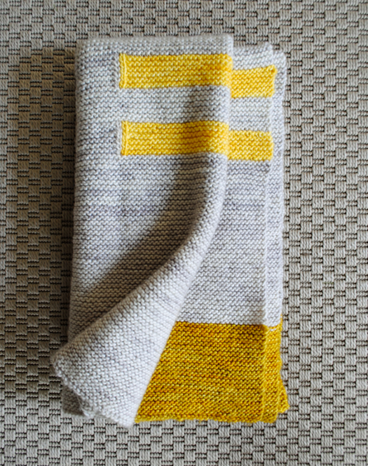 Four Corners Knit Baby Blanket by Purl SoHo