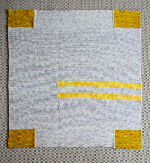 Four Corners Knit Baby Blanket Full View by Purl SoHo