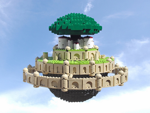 Castle in the Sky legos by Ochre Jelly