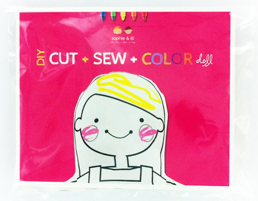 Cut Sew Color dolls by Sophie and Lili