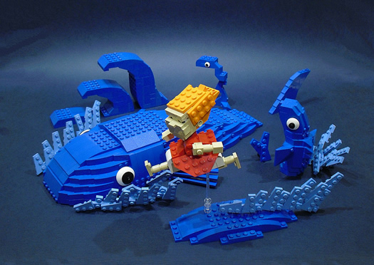 Ponyo chase scene in legos by Ochre Jelly