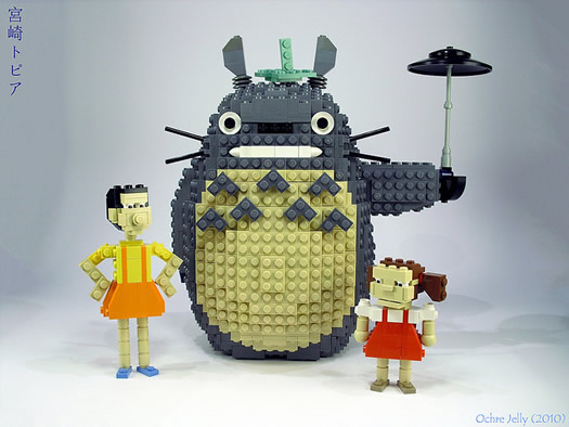 Totoro Satsuki and Mei legos by Ochre Jelly