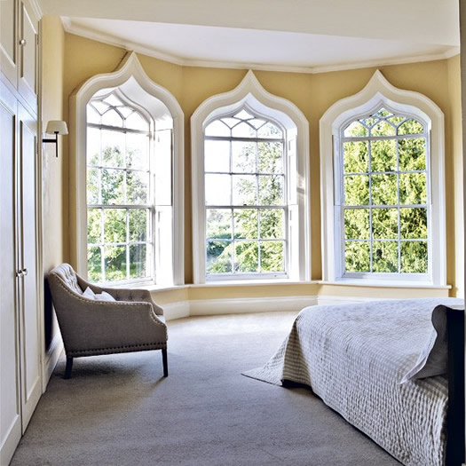 Decorative-bedroom-windows via Living Etc