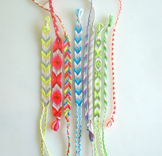 Friendship bracelets by the Purl Bee