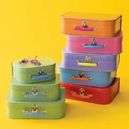 Mini suitcases via Land of Nod