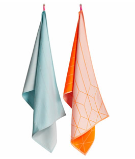 Scholten & Bajings tea towels hanging grid