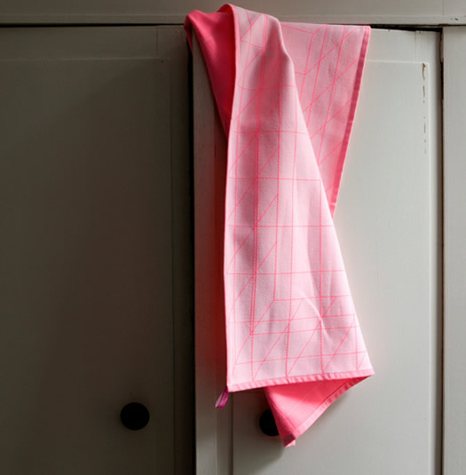 Scholten & Bajings tea towels neon pink