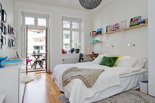 Swedish bedroom via Alvhem