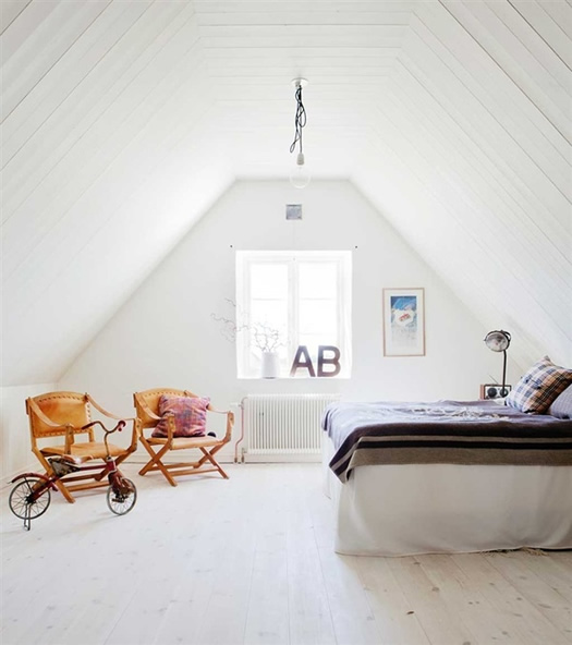 Swedish guest bedroom via Hus & Hem