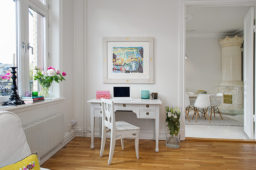 Swedish living room via Alvhem
