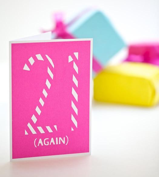 21 Again birthday card by YOKE
