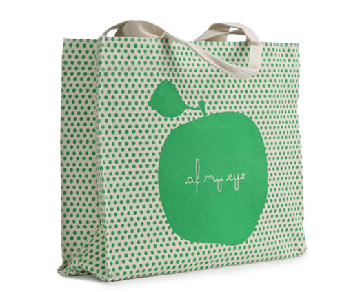 Apple of My Eye tote by Apple and Bee