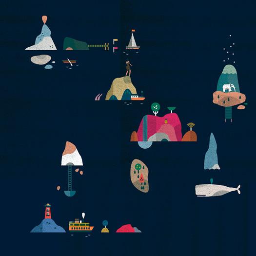Archipelago illustration by Lotta Nieminen