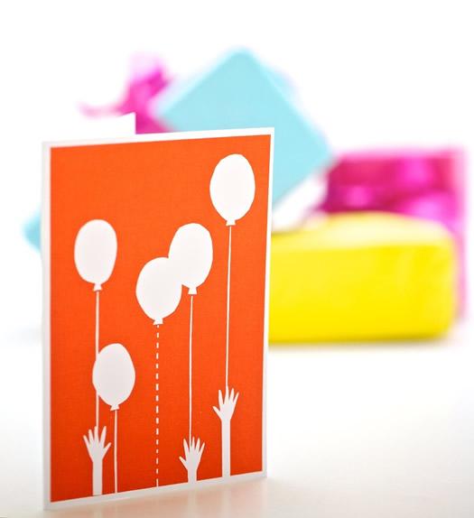 Balloon Bonanza birthday card by Yoke