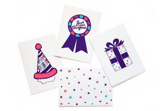 Birthday card box set by Meesch NY