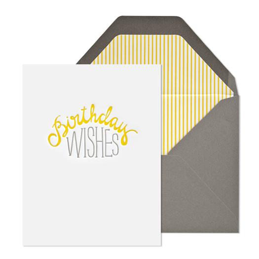 Birthday Wishes card by Sugar Paper LA