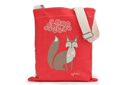 Fox kids library bag by Apple and Bee