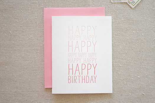Happy happy birthday by Parrott Design Studio