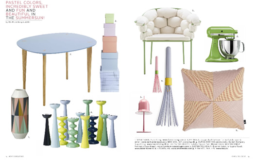 Pastel colors spread from Home & Delicious