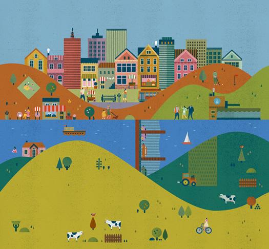 Suez Environment illustration by Lotta Nieminen