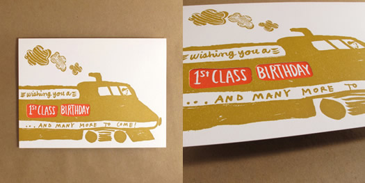 Train birthday card by Egg Press