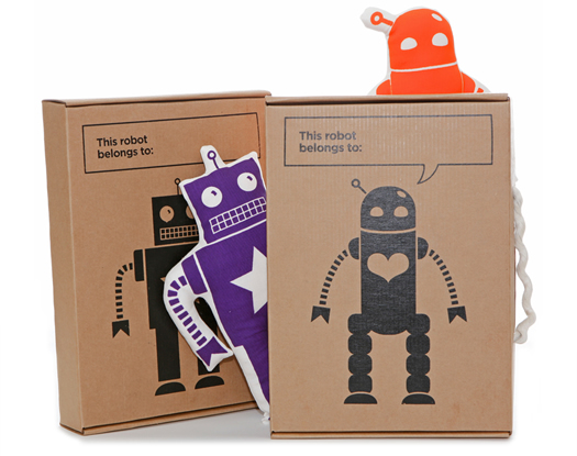 Ellie Bellie Kids robot in a custom box