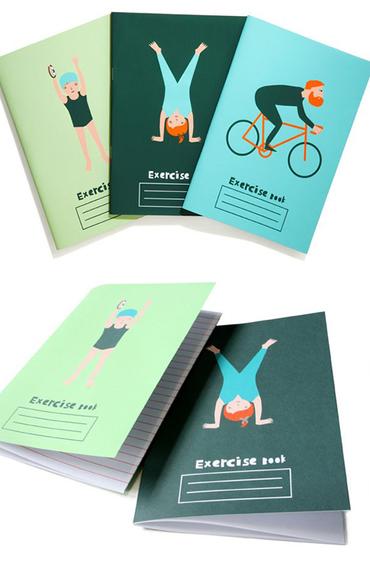 Exercise books by Donna Wilson