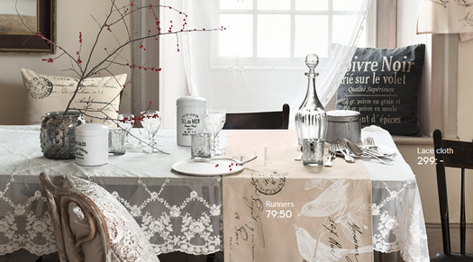 H + M table linens