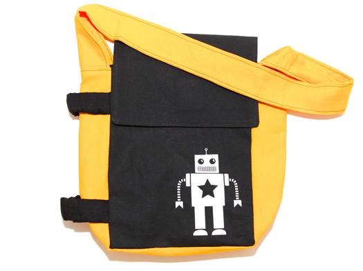 Ellie Bellie Kids yellow tag a long bag