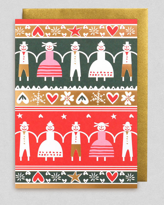 Bengt and Lotta Festive Friends Christmas card at Lagom