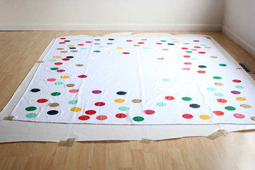 diy-confetti-tablecloth by Oh Happy Day