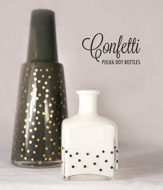 DIY polka dot vases and jars by Ruffled blog