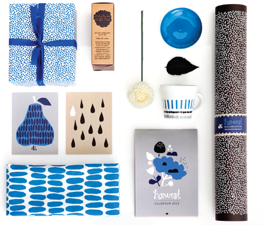 Harvest collection in blue by Darling Clementine