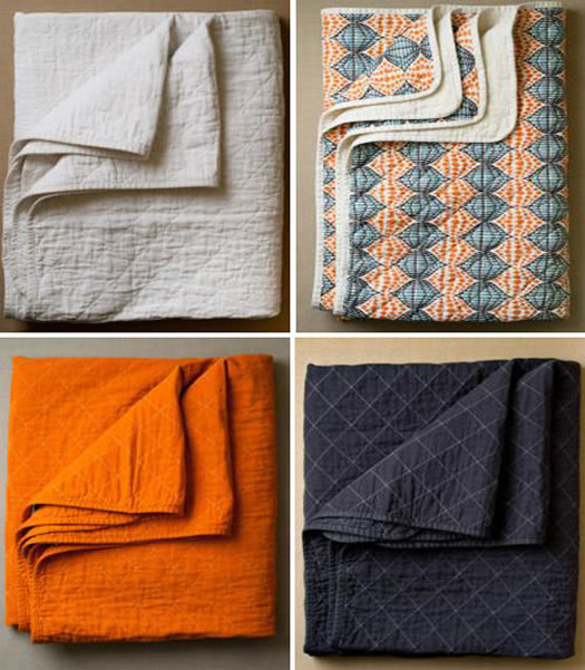 Utility Canvas quilted throw at Purl Soho