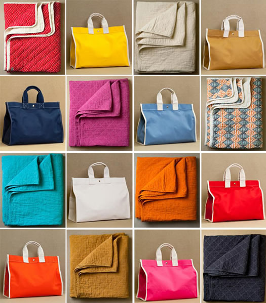 Utility Canvas bags and quilts at Purl Soho