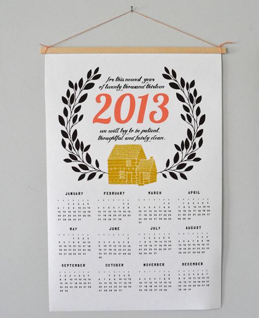 2013 calendar by Spread the Love