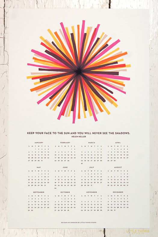 365 days of sunshine calendar (2) by Little Things Studio