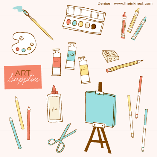 Art Supplies by Denise Holmes for the Ink Nest