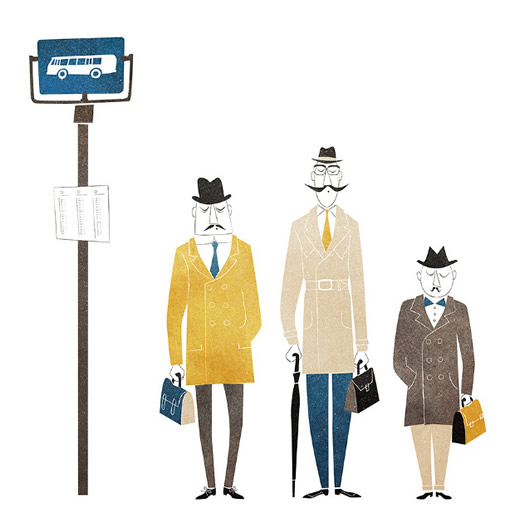 Bus men by Out of Paper