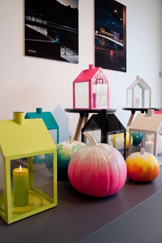 Colorful pumpkins by Normann Copenhagen