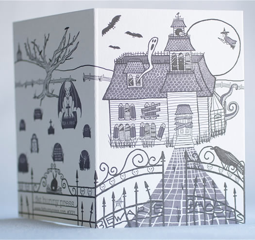 Haunted House card by Fat Bunny Press