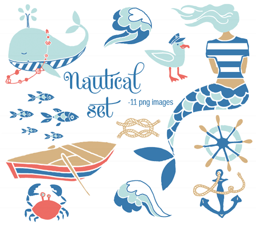 Nautical set by the Ink Nest