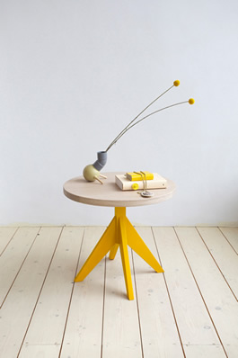 Side table by Slow Wood
