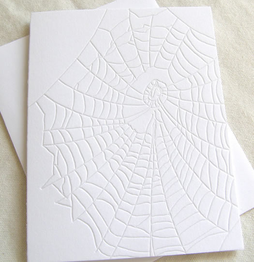 Spiderweb card by Presse Dufour