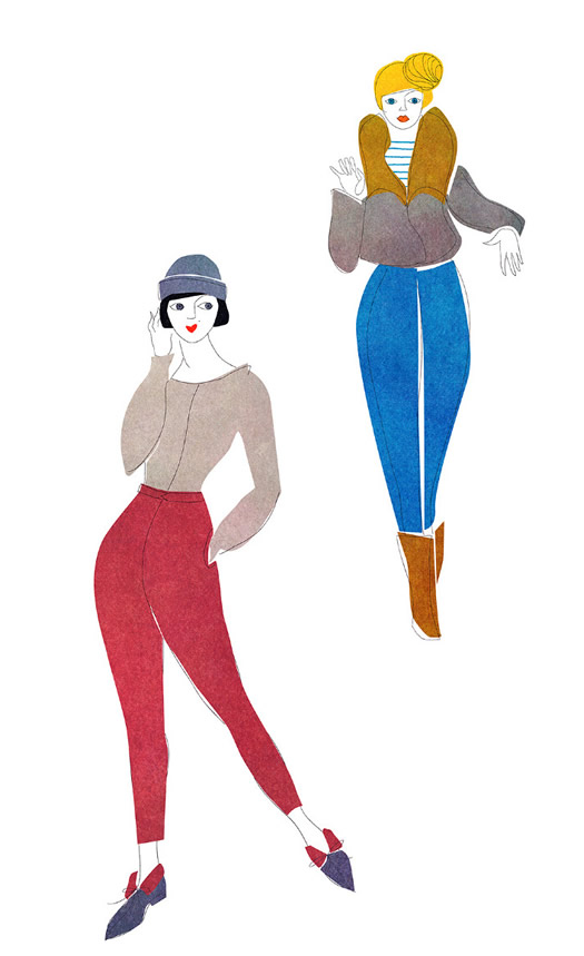 The Models illustration by Out of Paper