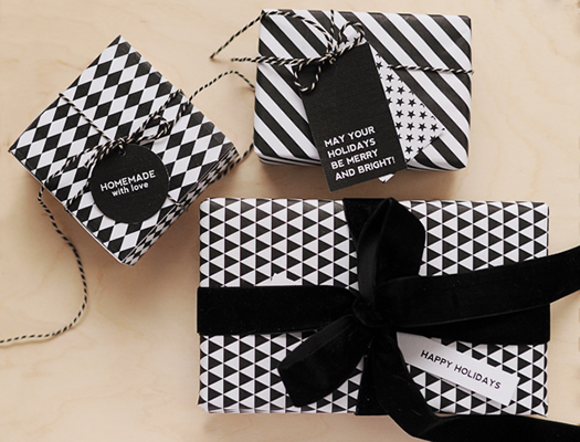 Black wrapping paper by Hey Look