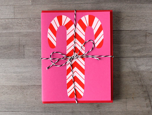 Candy canes cards by Lindsey Noble for Ship and Shape